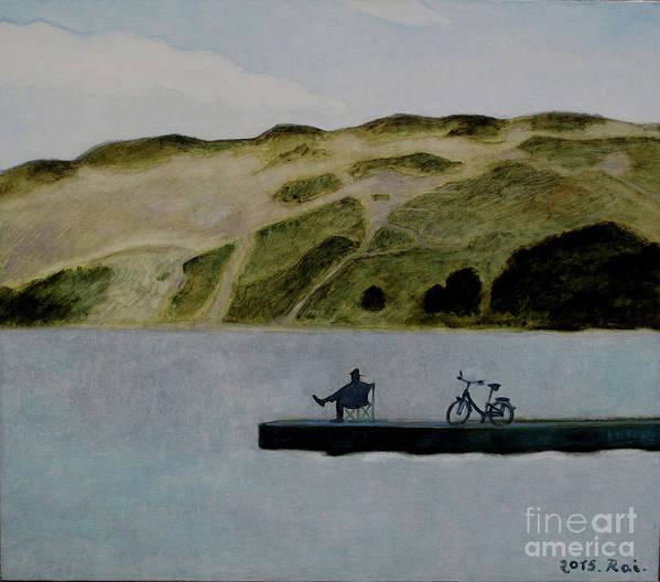 Nida Art Print featuring the painting The Great Nida's Dune by Raimonda Jatkeviciute-Kasparaviciene