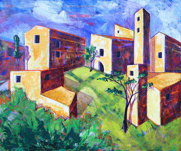 Landscape Art Print featuring the painting Villa by Rollin Kocsis