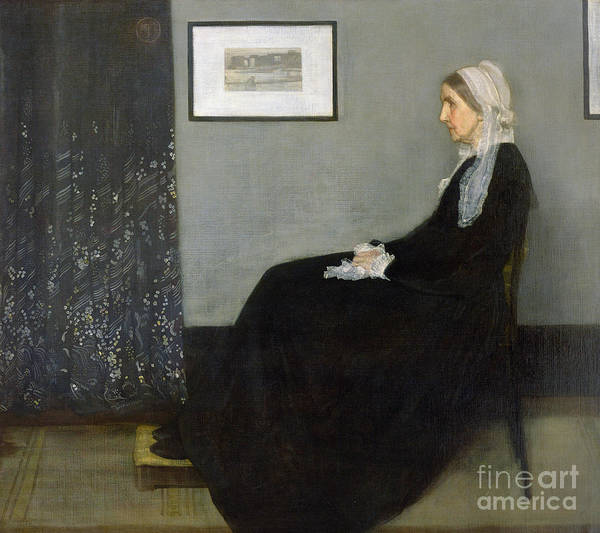 Whistlers Mother Art Print featuring the painting Whistlers Mother by James Abbott McNeill Whistler