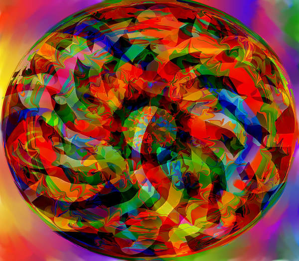 Worms Art Print featuring the digital art Worms by Peter Shor