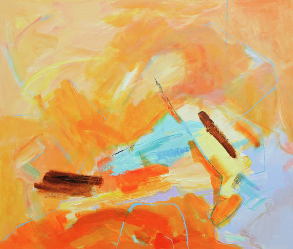 Oil Painting Art Print featuring the digital art Abstract Oil Painting by Balticboy