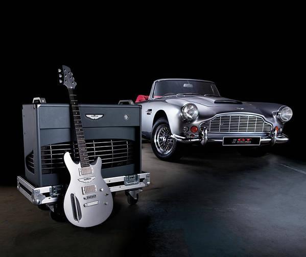 Music Art Print featuring the photograph Aston Martin Custom Guitar And Amplifier by Guitarist Magazine