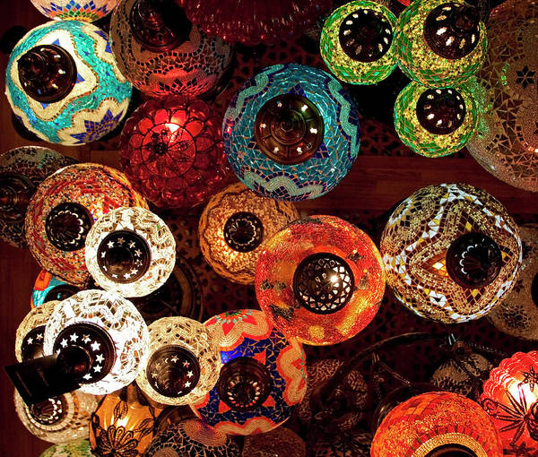 Antique Shop Art Print featuring the photograph Colorful Turkish Lanterns From The by Wldavies