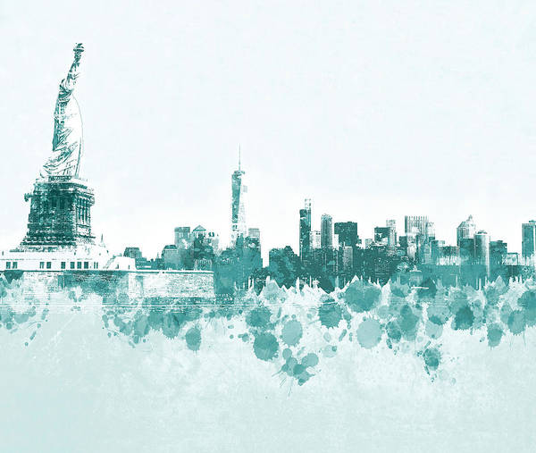 New York Art Print featuring the mixed media Design 139 New York City by Lucie Dumas