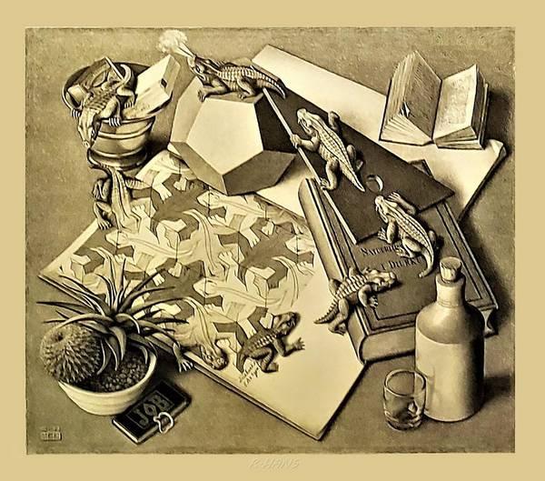 Maurits Cornelis Escher Art Print featuring the photograph Escher 119 by Rob Hans
