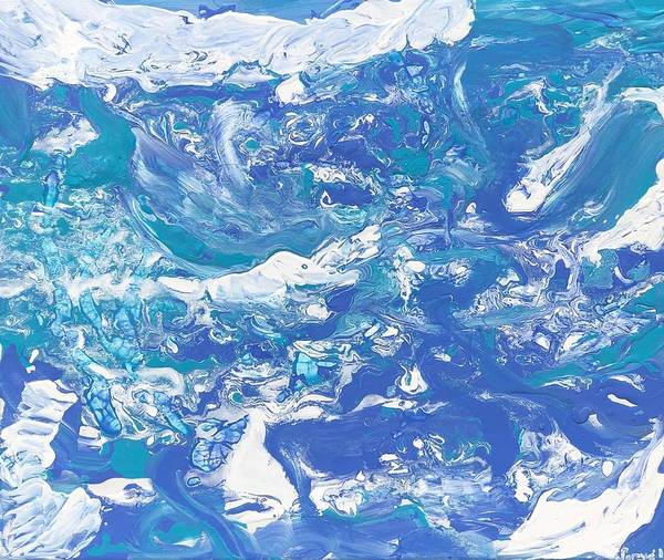 Water Art Print featuring the painting Formless Edition 5 by Sonye Locksmith