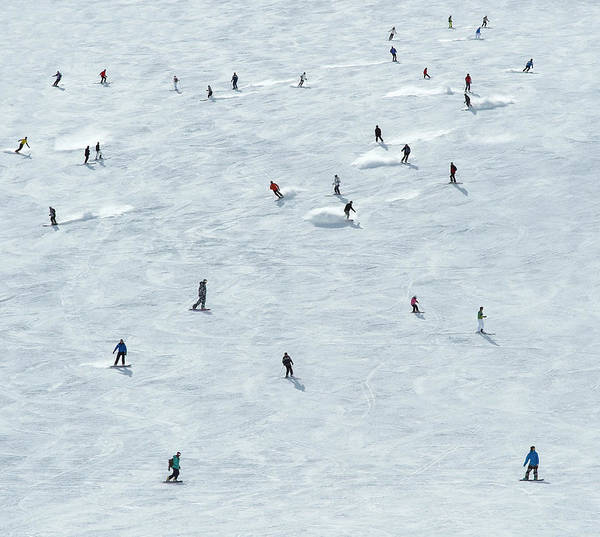 Skiing Art Print featuring the photograph Skiing In Mayrhofen Austria by Mike Harrington