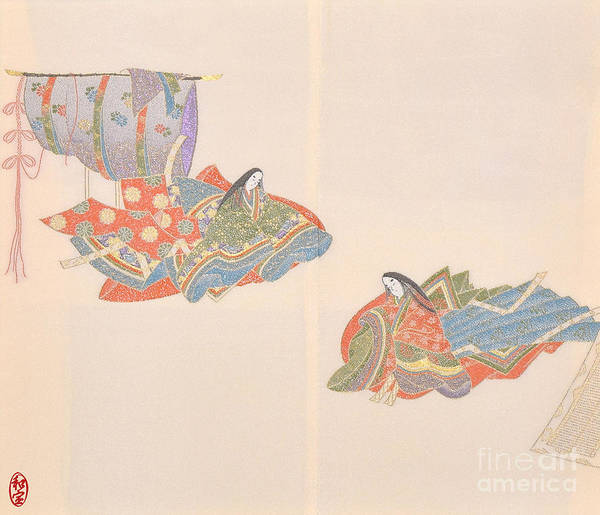 Art Print featuring the digital art Spirit of Japan H16 by Miho Kanamori