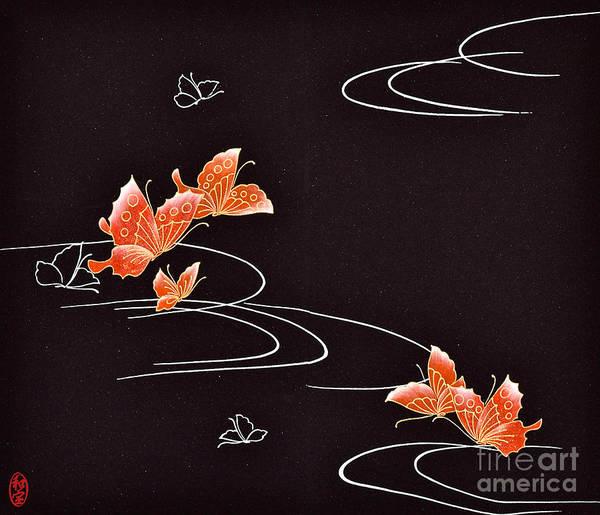 Art Print featuring the digital art Spirit of Japan H18 by Miho Kanamori