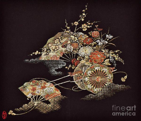 Art Print featuring the digital art Spirit of Japan H2 by Miho Kanamori