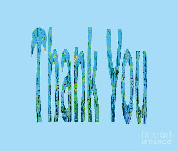 Thank You Art Print featuring the digital art Thank You 1001 by Corinne Carroll