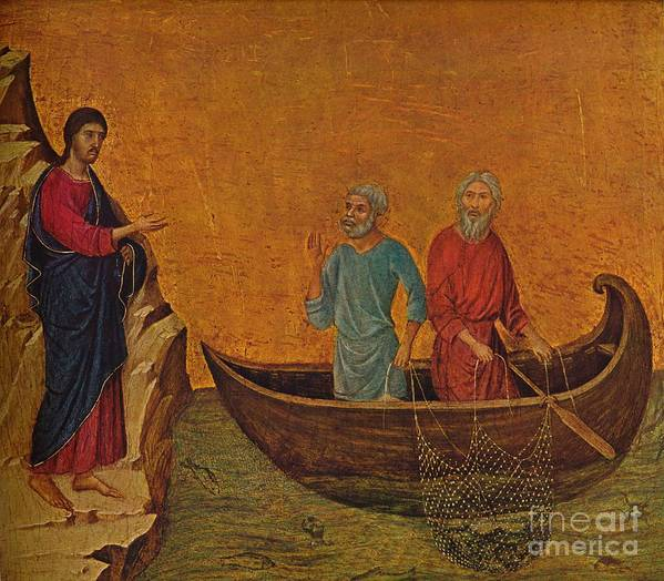 Art Art Print featuring the drawing The Calling Of The Apostles Peter by Print Collector