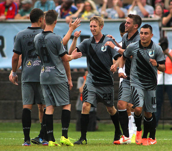 Scoring Art Print featuring the photograph Swansea City v Minnesota United FC by Andy King