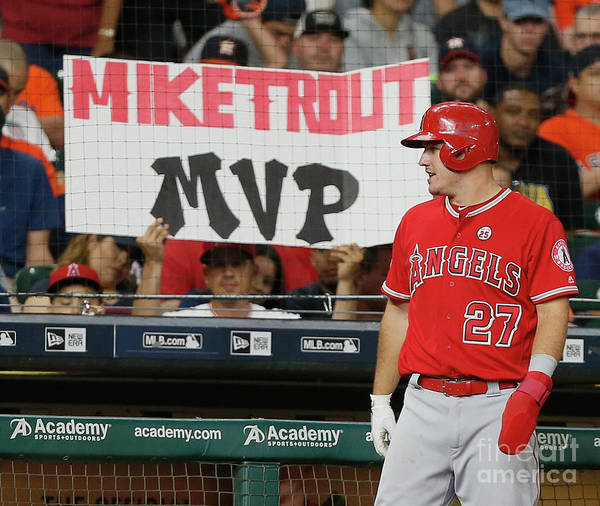 Three Quarter Length Art Print featuring the photograph Mike Trout by Bob Levey