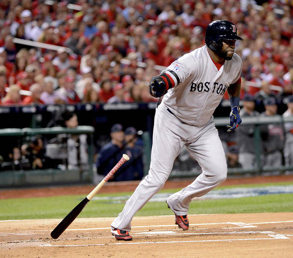 Playoffs Art Print featuring the photograph David Ortiz by Ron Vesely