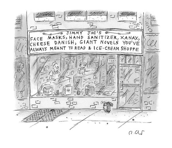 Captionless Art Print featuring the drawing Jimmy Joe's by Roz Chast