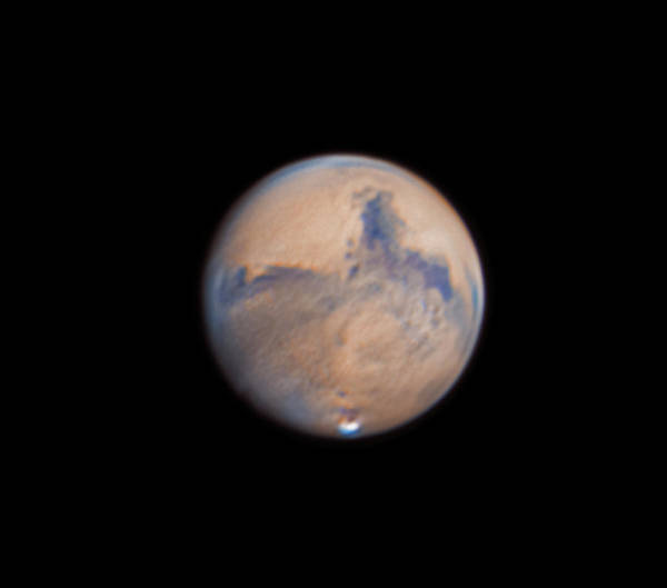 Mars Art Print featuring the photograph Mars from 31st October 2020 by Prabhu Astrophotography