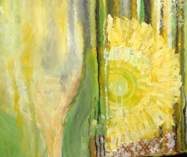 Yellow Art Print featuring the painting Wine or Nature by Carol P Kingsley