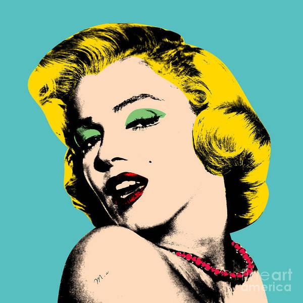 Pop Art Art Print featuring the digital art Andy Warhol by Mark Ashkenazi