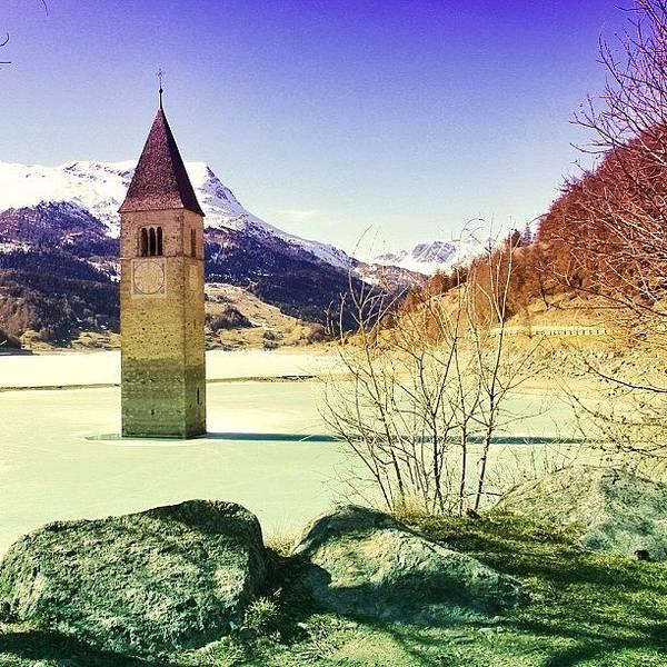 Beautiful Art Print featuring the photograph Lago Di Resia - Alto Adige by Luisa Azzolini