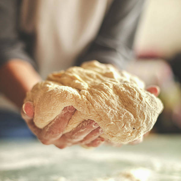 Kneading Art Print featuring the photograph Making Yeast Dough by Nimis69