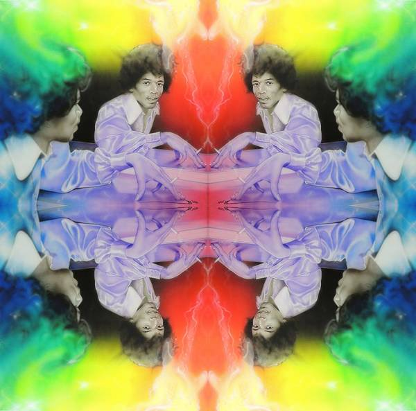 Jimi Hendrix Art Print featuring the painting Room Full of Jimis by Christian Chapman Art