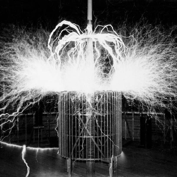 Tesla Coil Experiment by Nikola Tesla Museum/science Photo Library