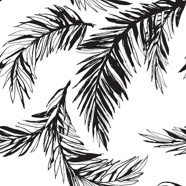 Tropical Rainforest Art Print featuring the digital art Tropical Jungle Floral Seamless by Sv sunny