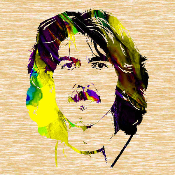 George Harrison Art Art Print featuring the mixed media George Harrison Collection by Marvin Blaine