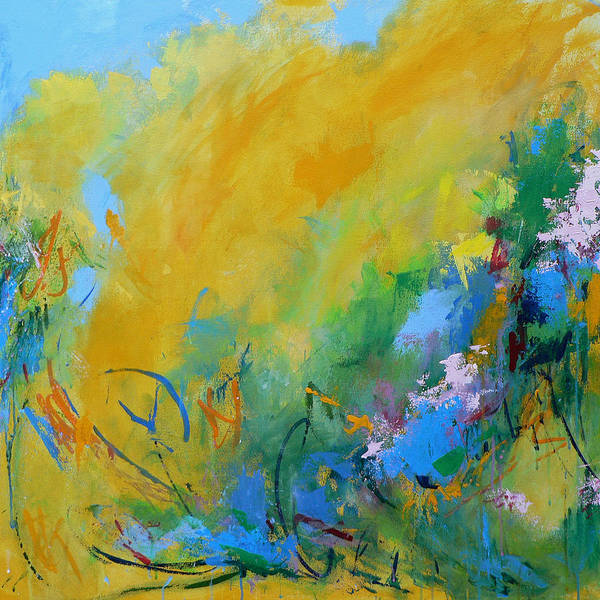 Abstract Art Print featuring the painting In the Garden by Jacquie Gouveia