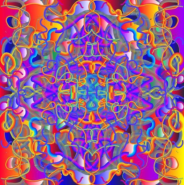 Mandala Art Print featuring the digital art 2013-01-23-03 by Peter Shor