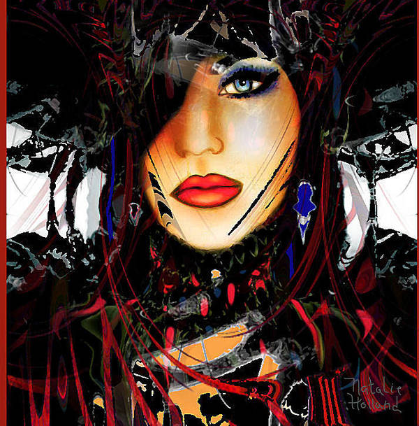 Face Art Print featuring the mixed media Alexandria by Natalie Holland