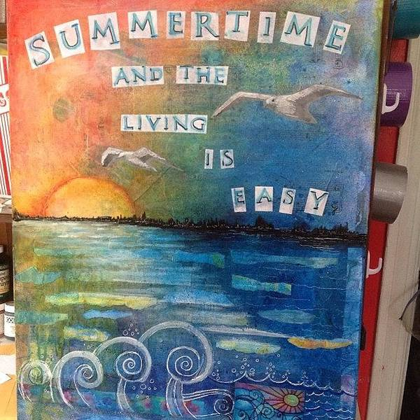 Summer Art Print featuring the photograph All Done. ..i Think #summer #mixedmedia by Robin Mead