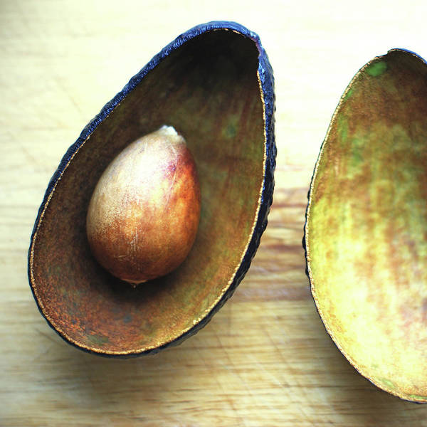 Empty Art Print featuring the photograph Avocado by Gregoria Gregoriou Crowe Fine Art And Creative Photography.
