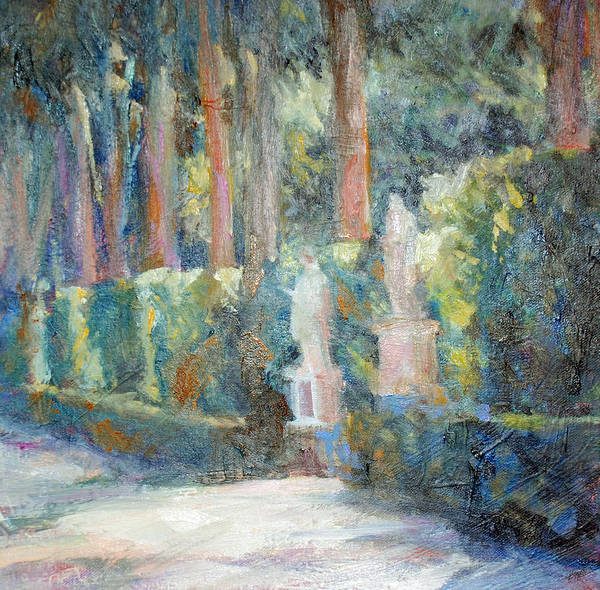 Statues Art Print featuring the painting Biboli Statues by Marilyn Muller