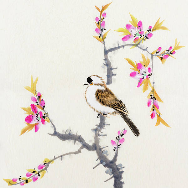 Chinese Culture Art Print featuring the digital art Birds by Vii-photo