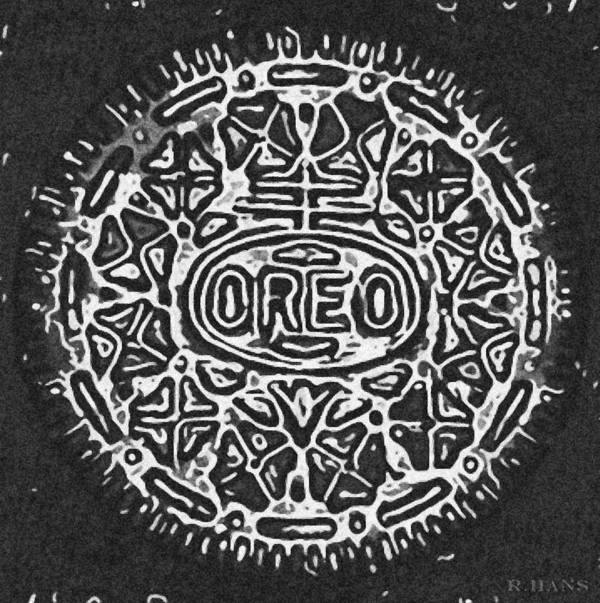 Oreo Art Print featuring the photograph Black And White Oreo by Rob Hans