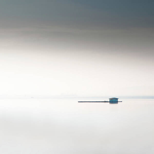 Tranquility Art Print featuring the photograph Blue Kelong by Khairul Fitri Mohamad