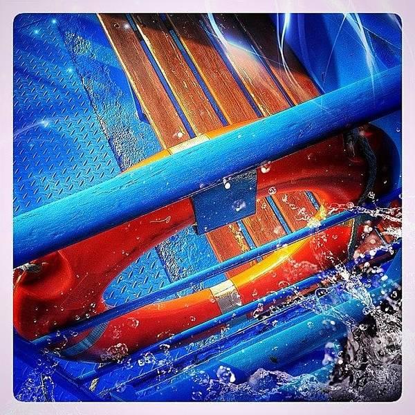 Blue Art Print featuring the photograph #budapest #boat #design #navigation by Luigino Bottega