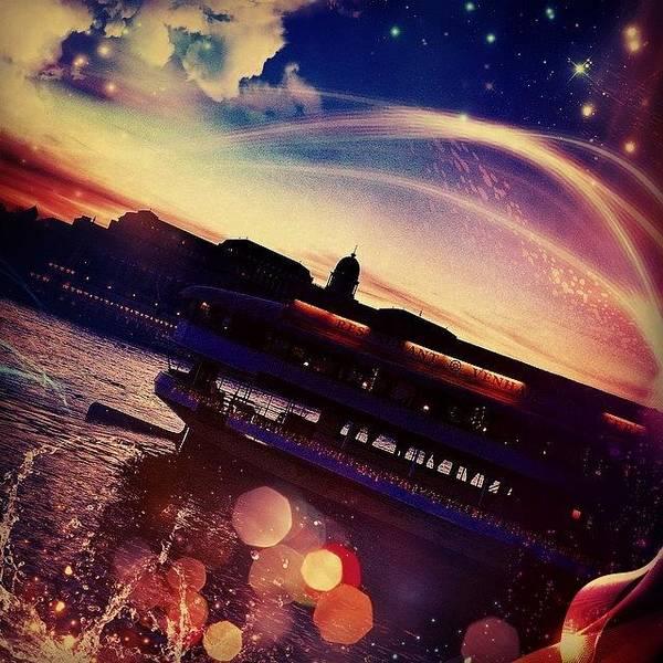Star Art Print featuring the photograph #budapest #sunset #sun #boat #lights by Luigino Bottega