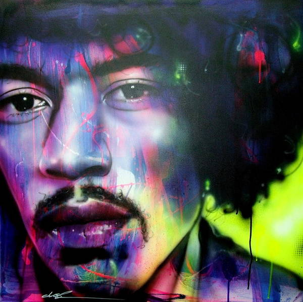 Jimi Hendrix Art Print featuring the painting Can You Hear Me? by Christian Chapman Art