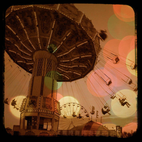 Carnival Art Print featuring the photograph Carnival Circles Go Round by Gothicrow Images