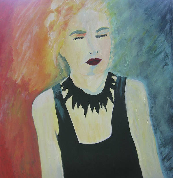 Portrait Art Print featuring the painting Charlotte by Ingrid Torjesen