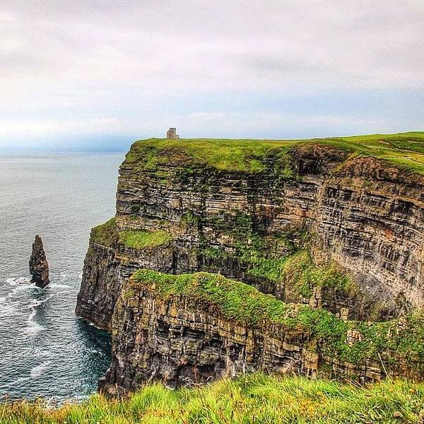 Europe Art Print featuring the photograph #cliffsofmoher #ireland #landscape by Luisa Azzolini
