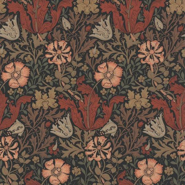 William Art Print featuring the tapestry - textile Compton Design by Philip Ralley