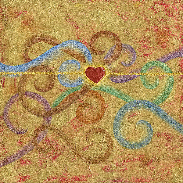 Heart Art Print featuring the painting Constant in Chaos by Elaine Allen