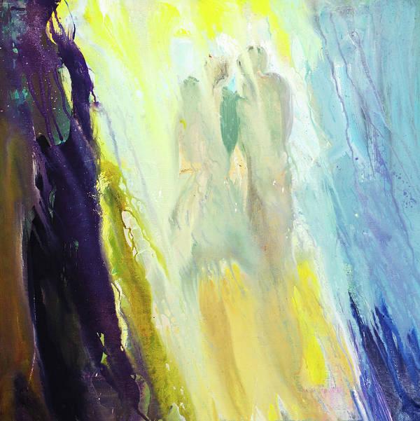 Art Art Print featuring the digital art Couple by Balticboy