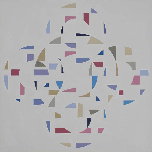 Abstract Geometric Optic Painting Art Print featuring the painting Ecliptic #2 by Marston A Jaquis