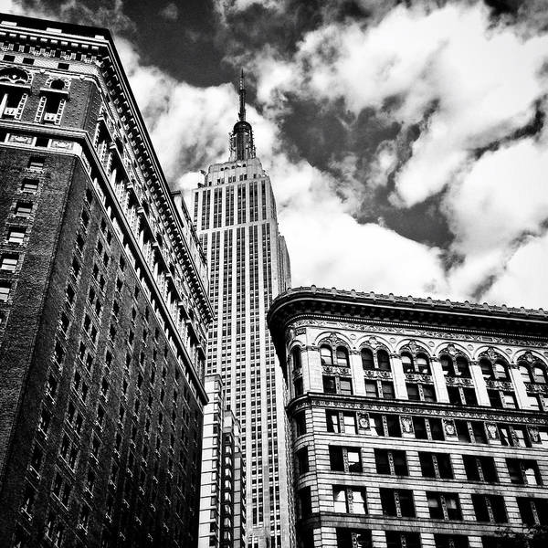 New York City Art Print featuring the photograph Empire State Building And New York City Skyline by Vivienne Gucwa