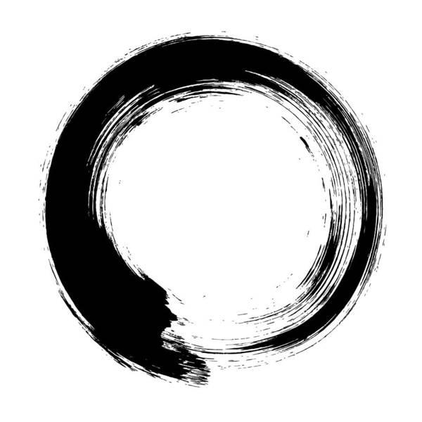 East Art Print featuring the digital art Enso – Circular Brush Stroke Japanese by Thoth adan
